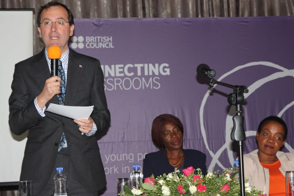 British High Commissioner Fergus Cochrane-Dyet at Connecting Classrooms launch