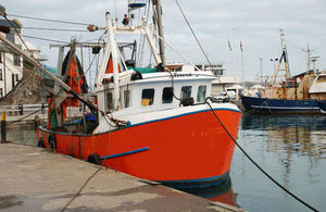 Fishing boat berthed