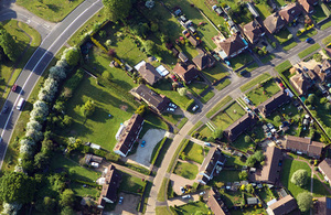 View of houses from above