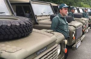 Land Rovers delivered to strengthen Bulgarian border security