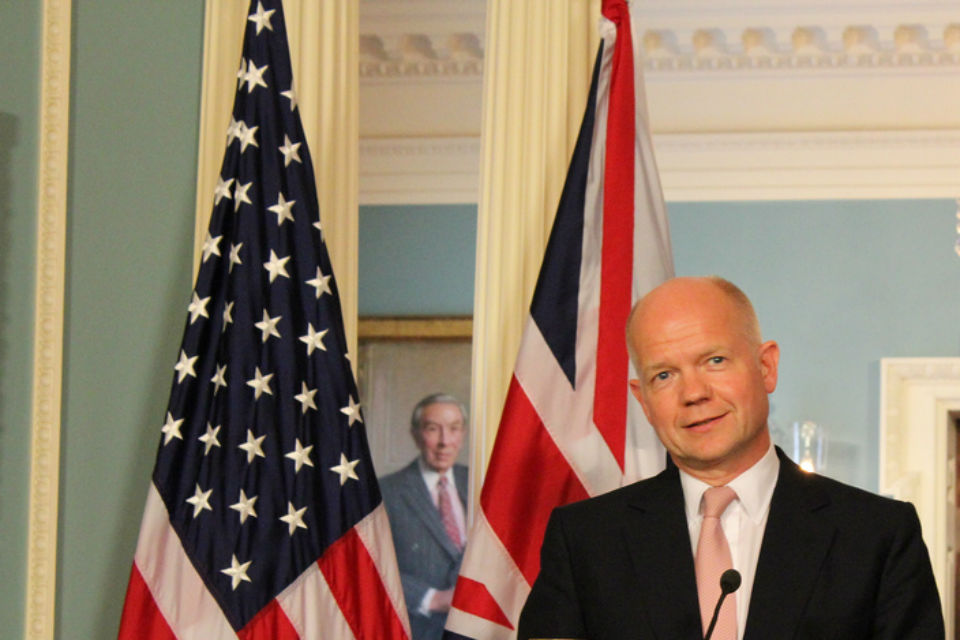 Foreign Secretary William Hague speaks on the TTIP EU-US agreement in Los Angeles.
