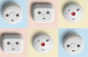 Image containing 6 different smoke alarms.