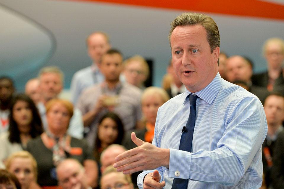 PM speaking at easyJet, Luton airport