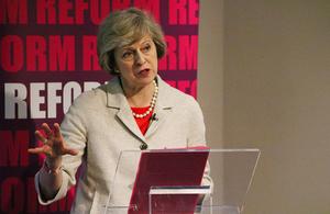 Home Secretary speaking