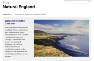 Natural England blog