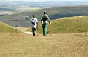 walkers in the South Downs National Park