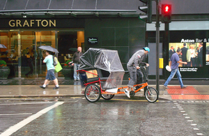 Pedicab. Stock image courtesy of Gwydion M Williams under Creative Commons licence.