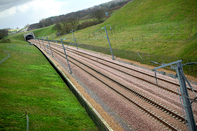 Rail track.