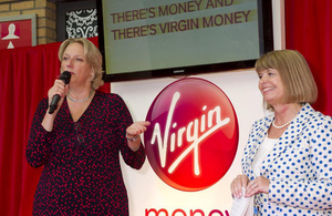 Jayne-Anne Gadhia, CEO Virgin Money and Economic Secretary Harriett Baldwin