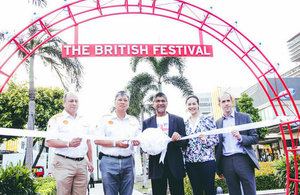 Ribbon cutting ceremony at the British Festival 2016