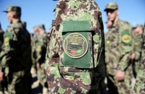 Afghan army officers