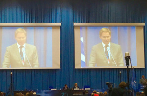 Minister Ellwood addresses the CTBTO