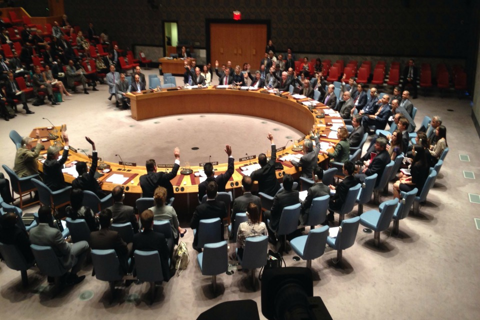 Security Council vote on resolution taking action against illegal flow of weapons in Libya