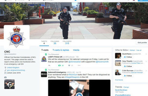 Civil Nuclear Constabulary Twitter page