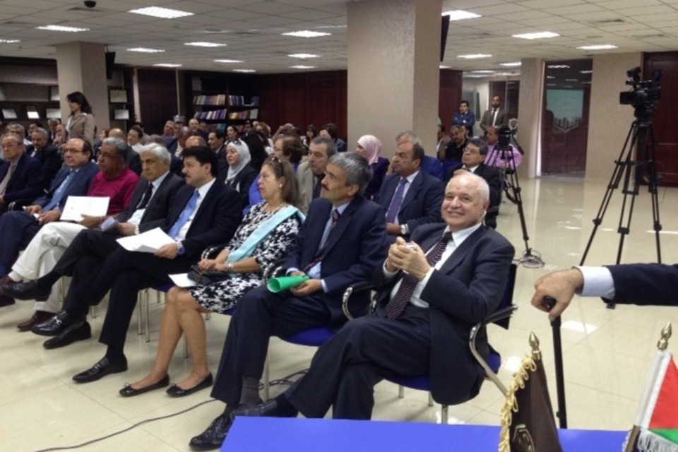 "British Ambassador Peter Millett during the launch of ""Nazaha"" project"