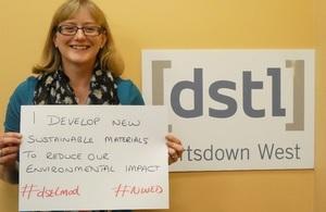 Laura Jones of Dstl marking National Women in Engineering Day