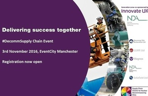 NDA Estate Supply Chain Event 3 November 2016: registration now open.