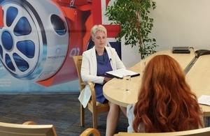 Ambassador Hopkins talking to Bulgarian media