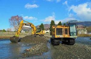 flood defence work in Cumbria