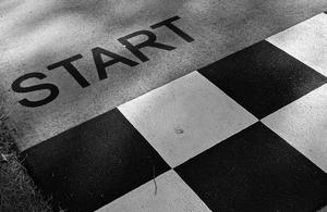 Photo of race start line