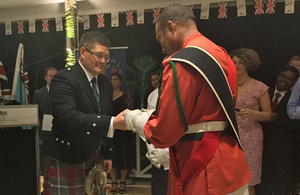 High Commissioner thanks the Republic of Fiji Military Forces for their participation at the 90th Birthday Celebrations of Her Majestry The Queen at Windor Castle