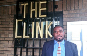 David Lammy outside The Clink at Cardiff prison