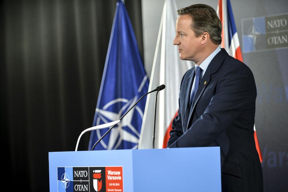 PM gives press conference at NATO Summit 2016, Warsaw