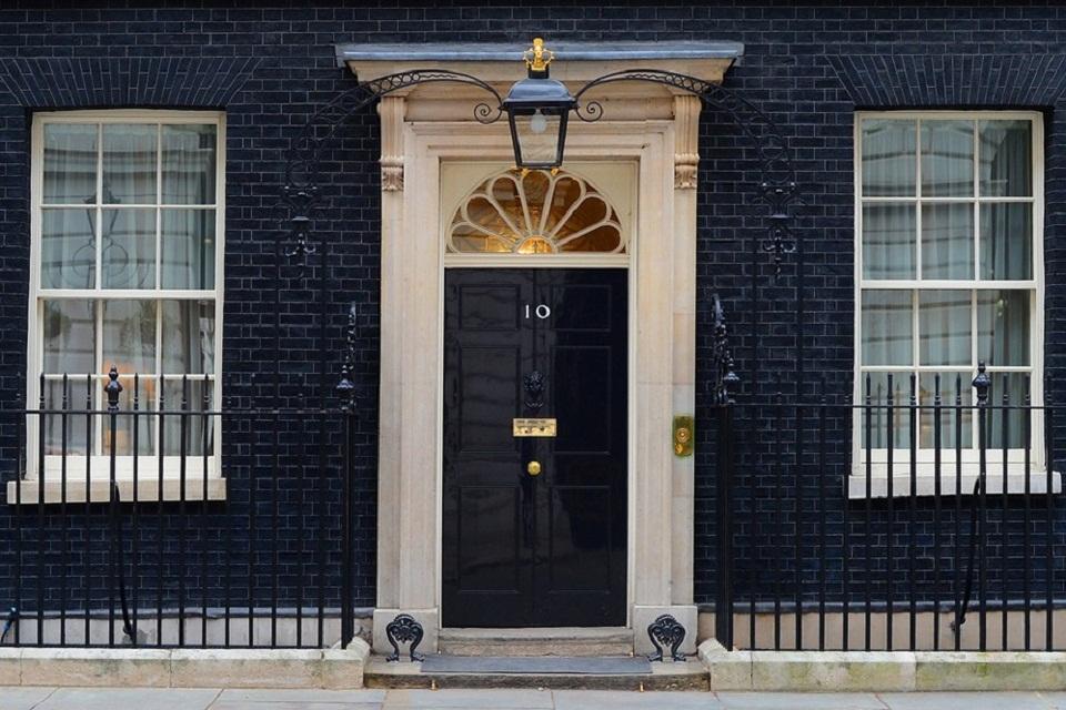 Number 10 Downing Street door