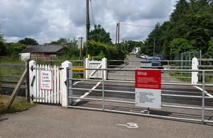 Image showing Dock Lane user worked crossing