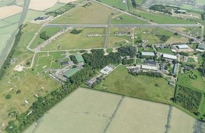 Aerial view of Westcott Venture Park.