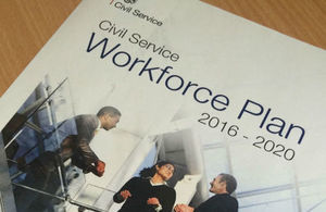 CS Workforce Plan on desk