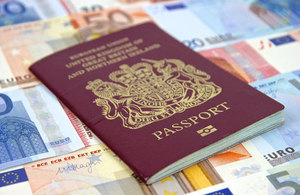 Passport with Euros