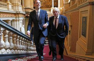 Boris Johnson and Permanent Undersecretary Simon McDonald