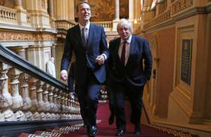 Boris Johnson, Foreign Secretary, with Simon MacDonald