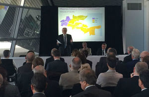 Lord Heseltine, David Edmonds Chairman of London Legacy Development Corporation and Thames Gateway Minister Mark Francois