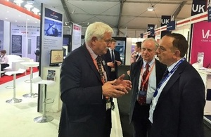 Lord Bourne visiting Farnborough International Airshow