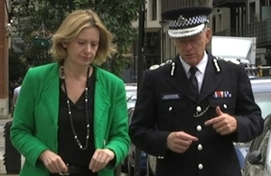 Home Secretary with Metropolitan Police Commissioner
