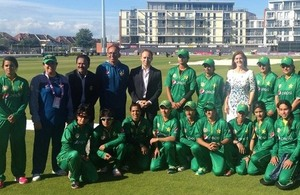British High Commissioner meets 'girls in green' ahead of T20 international match against England in Bristol
