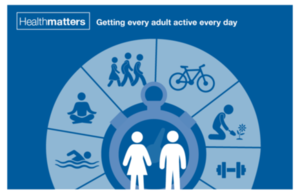 Infographic showing a variety of healthy activities for adults.