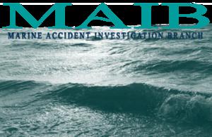 MAIB Logo and seascape.