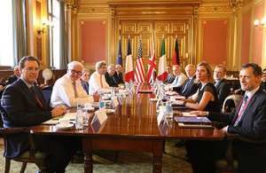 Foreign Secretary hosts international partners
