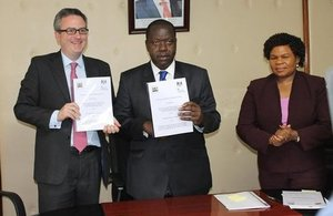 British High Commissioner, Nic Hailey, and Cabinet Secretary for Education, Dr. Fred Matiang'i