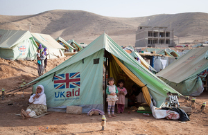 Shelter provided by UK aid for people displaced by Daesh in Iraq. Picture: Florian Seriex/Action Against Hunger