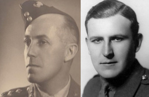 Major Roy Aylmer Wadeson and Lieutenant Hugh Francis Johnstone Mackenzie, Copyright IRIC, all rights reserved