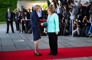 Prime Minister Theresa May and Chancellor Merkel meet in Berlin
