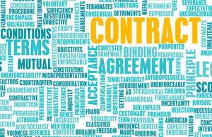 Photo of words describing commercial law