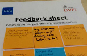 GDS Civil Service Live feedback sheet