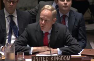 Ambassador Matthew Rycroft in UN Security Council