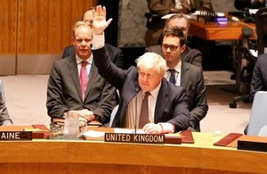 Rt Hon Boris Johnson MP, Secretary of State for Foreign and Commonwealth Affairs, in UN Security Council