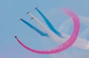 The Red Arrows will perform in China for the first time ever. Crown Copyright.